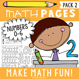 Number Worksheets - Numbers 0 to 6
