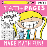 Number Worksheets - Numbers 1 to 3