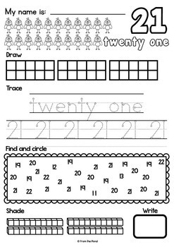 Number Worksheets - Writing & Number Concepts 21 to 30 by ...