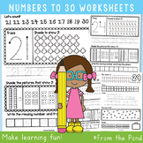 Number Worksheets - Writing & Number Concepts 21 to 30