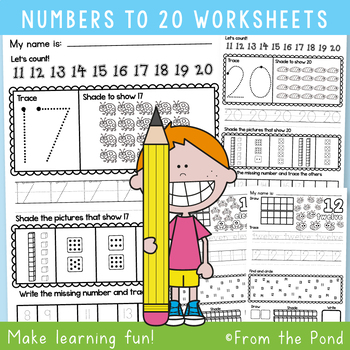 Number Worksheets to 20 {Printable Activities for Kindergarten} | TpT