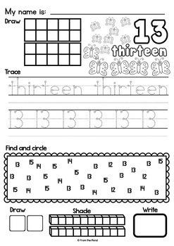Number Worksheets to 20 {Printable Activities for Kindergarten}
