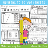 Number Worksheets to 20 {Printable Activities for Kindergarten}