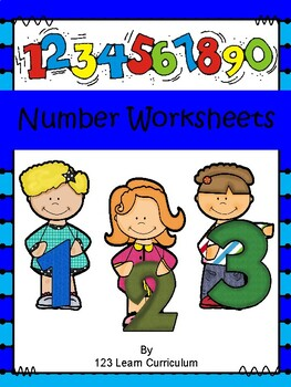 Number Worksheets and Flash Cards