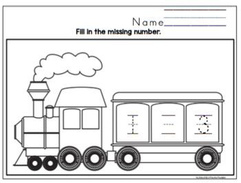 Number Worksheets for Boys