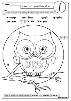 Number Worksheets:1-10, 60 printable pages U.S spelling (Kindergarten)