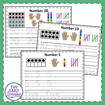 Write and Wipe Numbers - 0-20