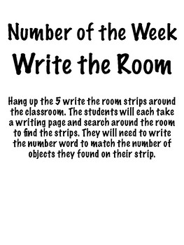Number Write the Room