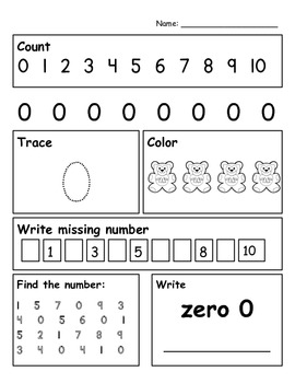 Number Writing 0 - 10