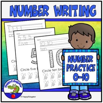 Number Writing 1 - 10, and Zero