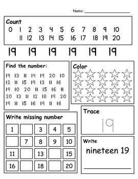 Number Writing 0 - 20