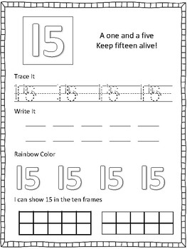 Number Writing 0-20