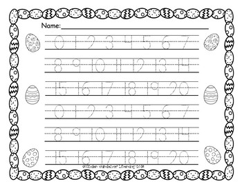 Number Writing 0 to 20