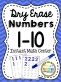 Dry Erase Number Writing 1-10