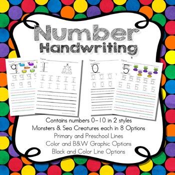 Number Handwriting 1-10