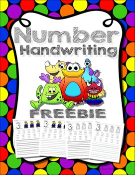 Number Handwriting 1-10 FREEBIE