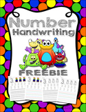 Number Handwriting FREEBIE