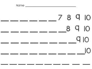 Number Writing 1-10 Intervention FREEBIE
