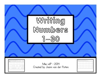 Number Writing 1-30 (in order)
