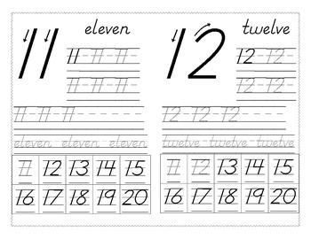 Number Writing 11-20