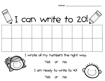 Number Writing 1 - 100