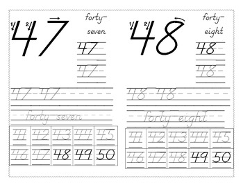 Number Writing 41-50