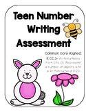 Teen Number Writing Assessment