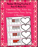 Number Writing, Base 10: Valentine's Day, Transportion, Farm, Spring, Rhymes