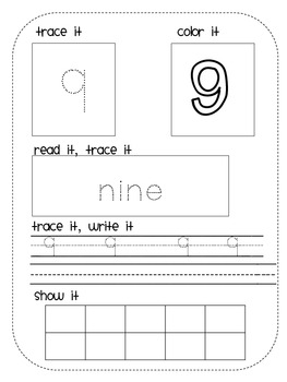 Number Writing Book {Practice Book for Numbers 1-30}