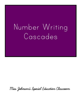 Number Writing Cascades 1-25