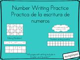 Number Writing/ Escritura de numeros