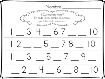 Number Writing/ Escritura de numeros