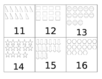 Number Writing Flash Cards