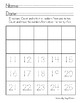 Number Writing Fluency #s1-40