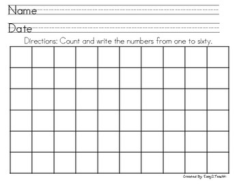 Number Writing Fluency #s1-80