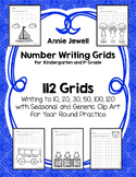 Number Writing Worksheets For Kindergarten and 1st Grade