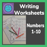 Number Writing Letter Form Practice 1-10 Worksheet Pack