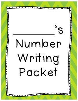 Number Writing No Prep Packet