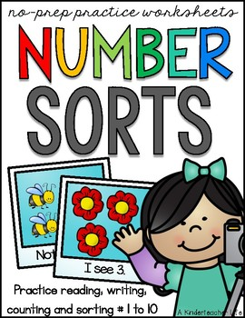 Number Writing, Number Recognition and Sorting