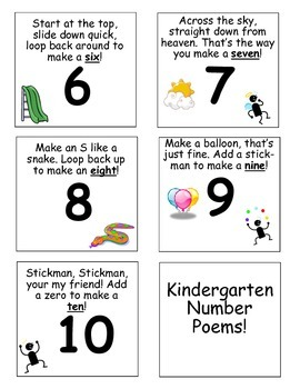 Number Writing Poems