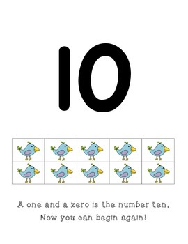Number Writing Poems with Ten Frames