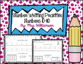 Number Writing Practice 0-10