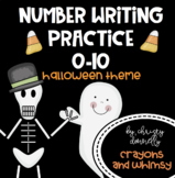 Number Writing Practice 0-10 {Halloween Theme}