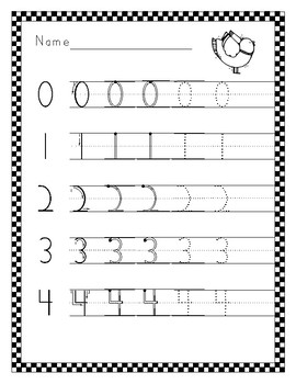 number writing practice 0 10 for handwriting without tears by leslie phillips. Black Bedroom Furniture Sets. Home Design Ideas