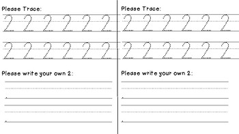 number writing practice 0 9 by fantastic first grade fun tpt. Black Bedroom Furniture Sets. Home Design Ideas