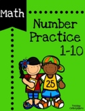 Number Writing Practice 1 - 10 for Early Learners