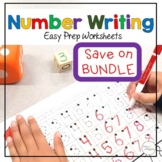 Writing Numbers 1-20 Practice Easy Prep Worksheets Bundle