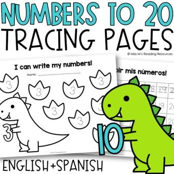 Number Writing Practice 1-20 {Number Handwriting}