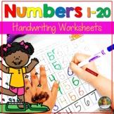 Number Writing Practice 1-20 Worksheets Summer June Activities