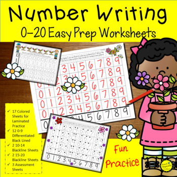 Number Practice 1 20 Worksheets Teaching Resources Teachers Pay